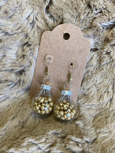Gold Ornament Earrings