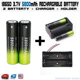 5800mAh Rechargeable 18650 Battery 3.7V Li-ion Batteries Charger Holder - arduino -