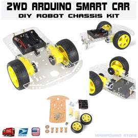 2WD Smart Car Chassis Robot Kit with speed encoder tracing Arduino MCU DIY - arduino - Business & Industrial:Automation, Motors & Drives:Industrial Robotic Arms