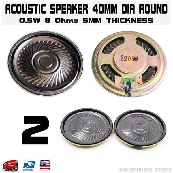 2pcs Speaker 40mm Dia 8 Ohm 0.5W Mini Audio Magnetic Arduino - arduino - Business & Industrial:Electrical Equipment & Supplies:Electronic Components & Semiconductors:Semiconductors & Actives:Buzzers & Speakers