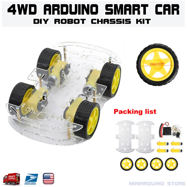 4wd Smart Robot Car Chassis Kits With Speed Encoder for Arduino - arduino - Business & Industrial:Automation, Motors & Drives:Industrial Robotic Arms