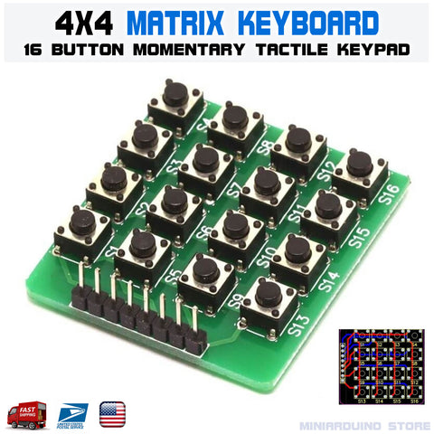 1pcs 4x4 4*4 Matrix Keypad Keyboard Module 16 Button Momentary Tactile Switch Arduino - arduino -