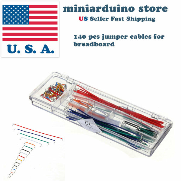 140pcs Solderless Breadboard Jumper Cable Wire Kit U Shape for Arduino Shield US - arduino - Business & Industrial:Electrical Equipment & Supplies:Electrical Tools:Electrical Tool Kits