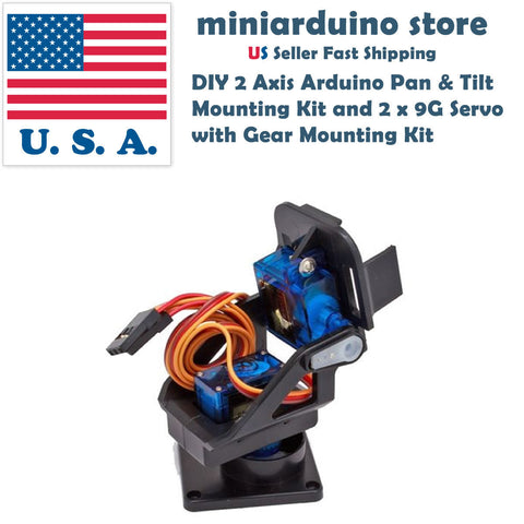 DIY 2 Axis Arduino Pan & Tilt  Mounting Kit and 2 x 9G Servo  with Gear Mounting - arduino - Toys & Hobbies:Radio Control & Control Line:RC Model Vehicle Parts & Accs:Other RC Parts & Accs