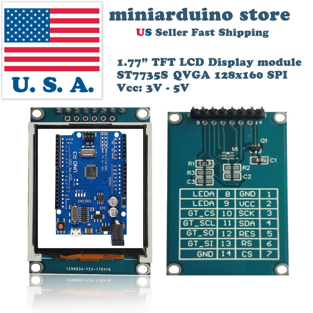 1.77 inch TFT Color Display Module Breakout SPI ST7735S for Arduino UNO LCD - arduino - Business & Industrial:Electrical Equipment & Supplies:Electronic Components & Semiconductors:LEDs, LCDs & Display Modules:LCD Display Modules
