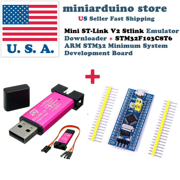 Mini ST-Link V2 Stlink Emulator Program + STM32 STM32F103C8T6 Development Board - arduino - Business & Industrial:Electrical Equipment & Supplies:Electronic Components & Semiconductors:Semiconductors & Actives:Integrated Circuits (ICs):Microcontrollers & Programmers