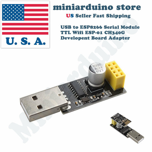 USB to ESP8266 Serial Module TTL Wifi ESP-01 CH340G Developent Board Adapter - arduino - Business & Industrial:Electrical Equipment & Supplies:Electronic Components & Semiconductors:Semiconductors & Actives:Development Kits & Boards