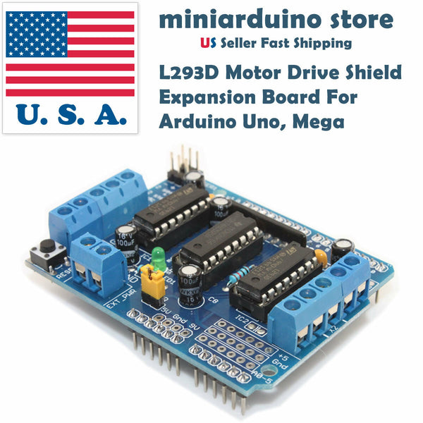 L293D Motor Drive Shield Expansion Board For Arduino Duemilanove Mega UNO USA - arduino - Business & Industrial:Automation, Motors & Drives:Drives & Starters:Drives & Motor Controls:Stepper Controls & Drives