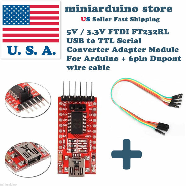 FT232RL 3.3V 5.5V FTDI USB to TTL Serial Adapter Module for Arduino Mini Port - arduino - Business & Industrial:Electrical Equipment & Supplies:Electronic Components & Semiconductors:Other Electronic Components