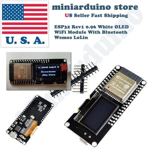 Lolin ESP32 OLED Module Arduino OLED WiFi Modules+Bluetooth Dual ESP-32 Wemos - arduino - Business & Industrial:Electrical Equipment & Supplies:Electronic Components & Semiconductors:Other Electronic Components
