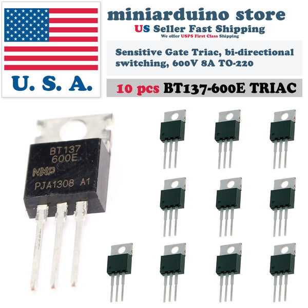 10PCS BT137-600E BT137 600V 8A Triac TO-220S Thyristor - arduino - Business & Industrial:Electrical Equipment & Supplies:Electronic Components & Semiconductors:Semiconductors & Actives:Thyristors & SCRs