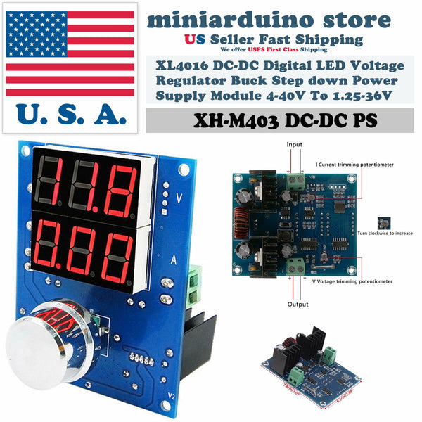 XH-M403 Digital Voltage Regulator XL4016 PWM Buck Step Down Power Supply Board - arduino - Business & Industrial:Electrical Equipment & Supplies:Electronic Components & Semiconductors:Semiconductors & Actives:Power Regulators & Converters