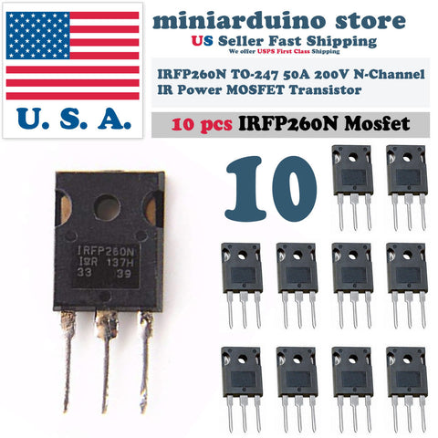 10pcs IRFP260N Power MOSFET IRFP260 N-Channel Transistor 50A 200V TO-247 - arduino - Business & Industrial:Electrical Equipment & Supplies:Electronic Components & Semiconductors:Semiconductors & Actives:Transistors