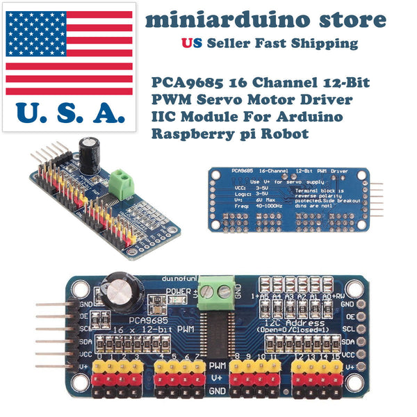 PCA9685 16 Channel 12-bit PWM Servo motor Driver I2C Module For Servo Arduino US - arduino - Business & Industrial:Electrical Equipment & Supplies:Electrical Boxes, Panels & Boards:Electrical Panels/Distribution Boards