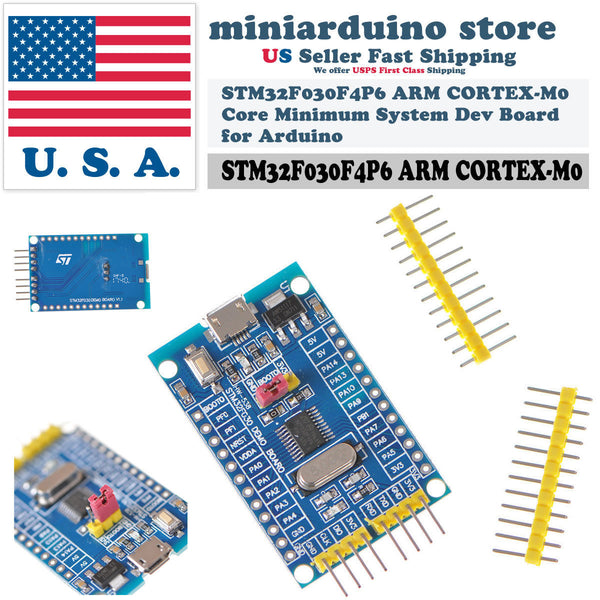 STM32F030F4P6 ARM CORTEX-M0 Core Minimum System Dev Board for Arduino - arduino - Business & Industrial:Electrical Equipment & Supplies:Electronic Components & Semiconductors:Semiconductors & Actives:Integrated Circuits (ICs):Microcontrollers & Programmers