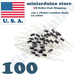 100pcs 1N4007 IN4007 1A 1000V Rectifier Diode DO-41 4007 - arduino - Business & Industrial:Electrical Equipment & Supplies:Electronic Components & Semiconductors:Semiconductors & Actives:Diodes:Other Diodes