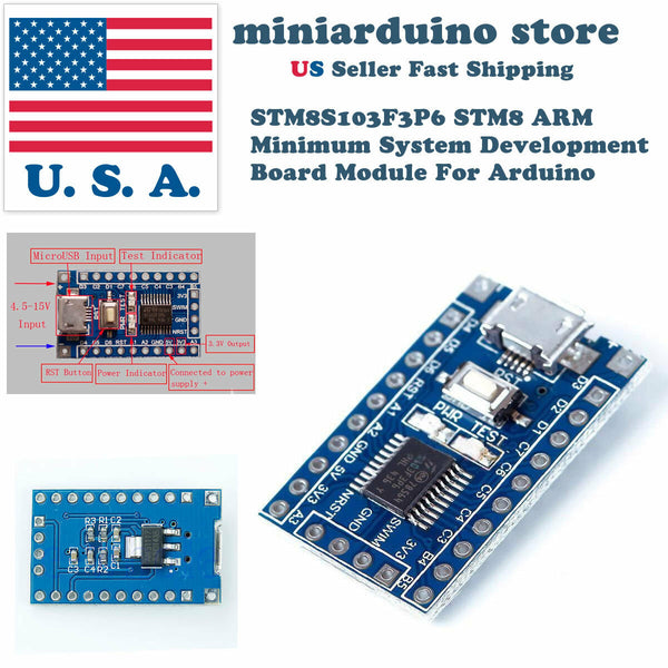 STM8S103F3P6 ARM STM8 Minimum System Development Board Module for Arduino USA - arduino - Business & Industrial:Electrical Equipment & Supplies:Electronic Components & Semiconductors:Semiconductors & Actives:Integrated Circuits (ICs):Microcontrollers & Programmers