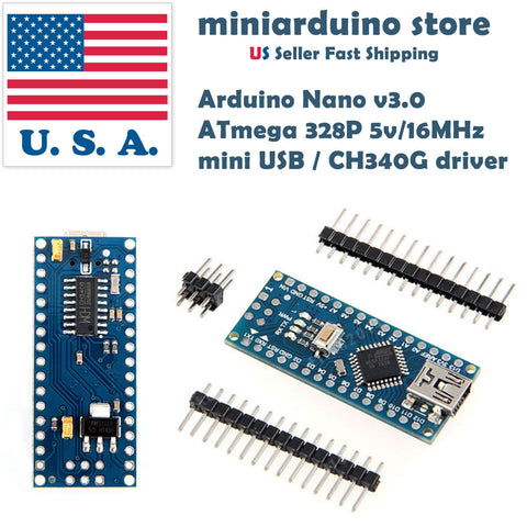 10pcs Nano V3.0 ATmega328 CH340G 5V16M Arduino Micro-controller board  mini usb - arduino - Business & Industrial:Electrical Equipment & Supplies:Electronic Components & Semiconductors:Other Electronic Components