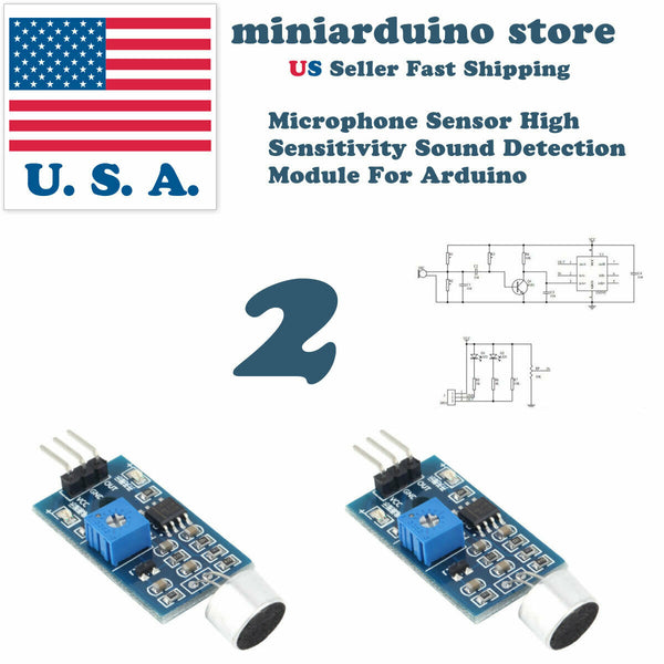 2pcs High Sensitivity Sound Microphone Sensor Detection Module 3 pin For Arduino - arduino - Business & Industrial:Electrical Equipment & Supplies:Sensors:Other Sensors
