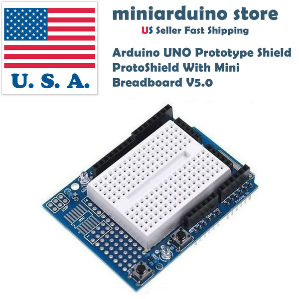 Arduino UNO Prototyping Prototype Shield ProtoShield V5.0 Mini Breadboard 3280 - arduino - Business & Industrial:Electrical Equipment & Supplies:Electrical Boxes, Panels & Boards:Electrical Panel/Board Accessories