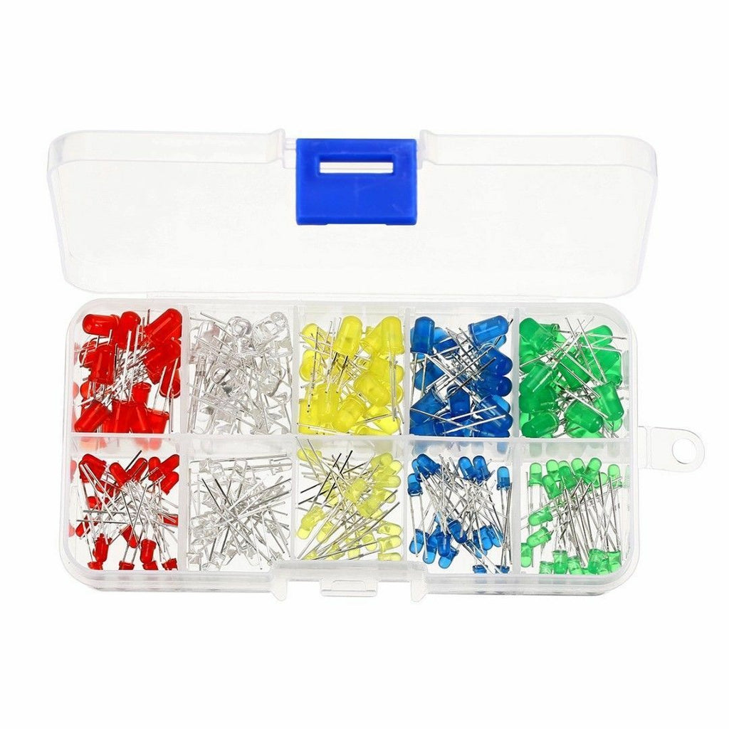 200Pcs 3mm 5mm LED Light White Yellow Red Blue Green Assortment Diodes Kit Box - arduino - Business & Industrial:Electrical Equipment & Supplies:Electronic Components & Semiconductors:LEDs, LCDs & Display Modules:Individual LEDS