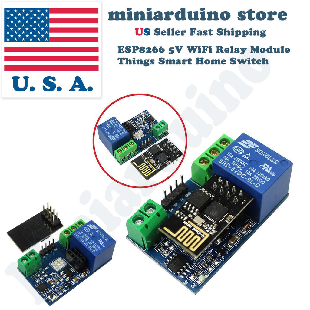 ESP8266 Relay Module Smart Home Phone Remote Control Switch APP ESP-01S 5V WiFi - arduino - Business & Industrial:Electrical Equipment & Supplies:Relays:Relay Modules & Boards