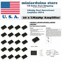 20pcs LM358 LM358N LM358P Dual Op Amp DIP-8 Low Power Operation Amplifier - arduino - Business & Industrial:Electrical Equipment & Supplies:Electronic Components & Semiconductors:Semiconductors & Actives:Integrated Circuits (ICs):Other Integrated Circuits