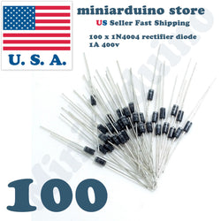 100x (100pcs) 1N4004 Rectifier Diode 1A 400V IN4004 US Seller Fast Shipping - arduino - Business & Industrial:Electrical Equipment & Supplies:Electronic Components & Semiconductors:Semiconductors & Actives:Diodes:Other Diodes