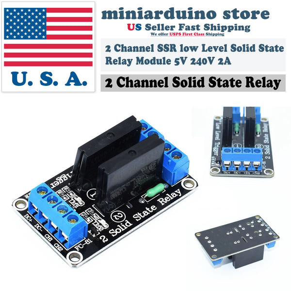 2 Channel OMRON SSR Solid State Relay Module For Arduino 5V 2A Low Level - arduino - Business & Industrial:Electrical Equipment & Supplies:Relays:Relay Modules & Boards