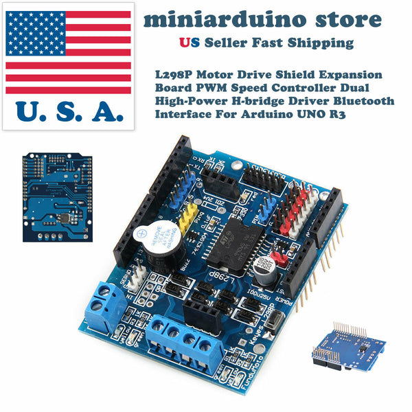 L298P Motor Drive Shield Expansion Board PWM Speed Controller H-bridge Arduino - arduino - Business & Industrial:Automation, Motors & Drives:Drives & Starters:Drives & Motor Controls:Stepper Controls & Drives