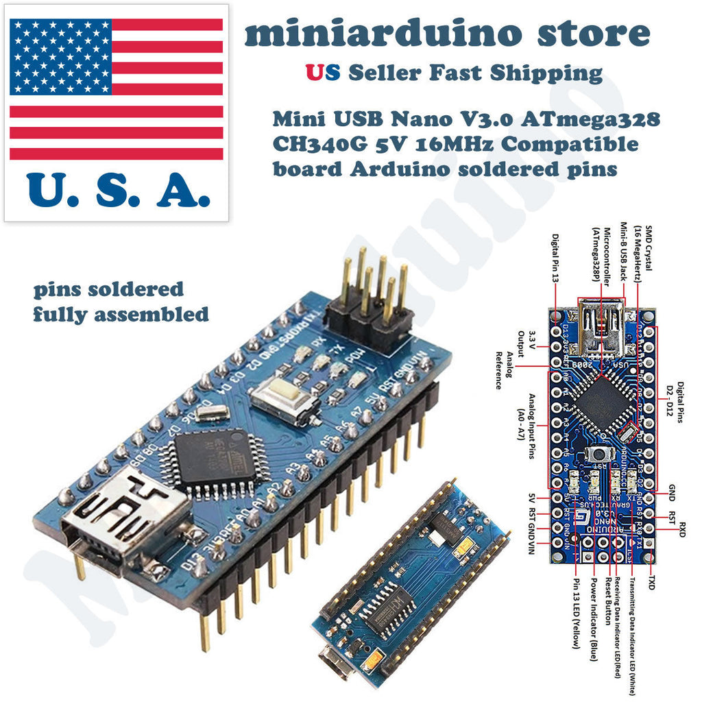 Arduino Nano V3.0 Expansion Shield UNO + ATmega328P Nano Board CH340G Mini usb - arduino - Business & Industrial:Electrical Equipment & Supplies:Electronic Components & Semiconductors:Other Electronic Components