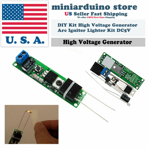 DC 3-5V DIY Kit High Voltage Generator Arc Igniter Lighter Unassembled Kit - arduino - Business & Industrial:Electrical Equipment & Supplies:Electronic Components & Semiconductors:Semiconductors & Actives:Power Regulators & Converters