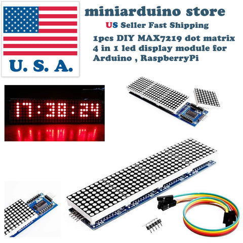 Arduino matrix led display module max7219 5p line 8x32 4 in 1 MCU Raspberry pi - arduino - Business & Industrial:Electrical Equipment & Supplies:Electronic Components & Semiconductors:Other Electronic Components