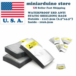 100pcs ESD Anti Static Shielding Bags 2.5''x 4.5'' 11*7cm Waterproof Electronics - arduino - Business & Industrial:Material Handling:Packing & Shipping:Packing & Shipping Bags:Anti-Static Bags