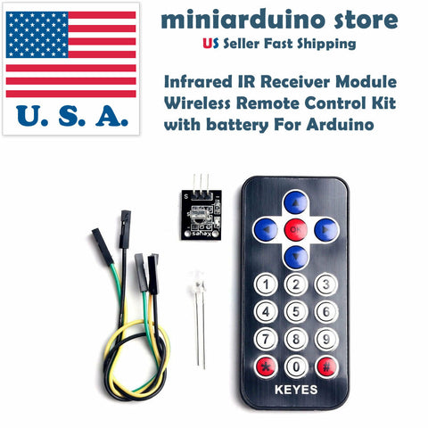 Infrared IR Receiver Module Wireless Remote Control Kit with Battery For Arduino - arduino - Business & Industrial:Electrical Equipment & Supplies:Sensors:Other Sensors