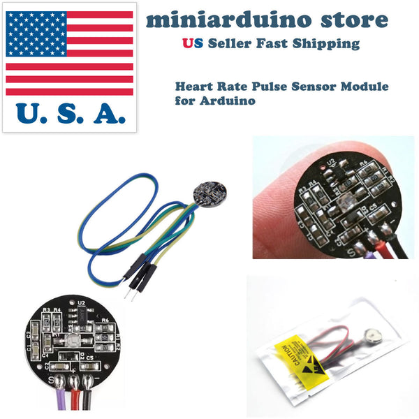 Pulse Sensor Heart Rate Sensor Monitor PulseSensor for Arduino Module Raspberry - arduino - Business & Industrial:Electrical Equipment & Supplies:Sensors:Other Sensors