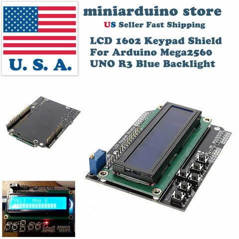 1602 LCD Board Keypad Shield Blue Backlight Arduino UNO Mega2560 HD44780 Display - arduino - Consumer Electronics:Other Consumer Electronics