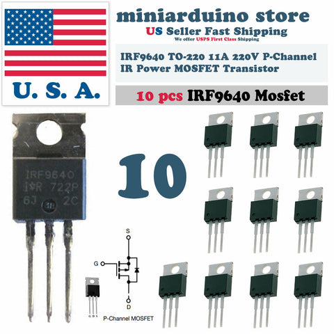10pcs IRF9640 IRF 9640 Power MOSFET 11A 200V TO-220