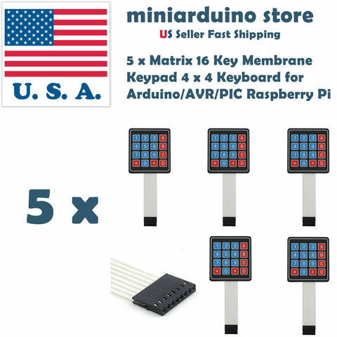 5pcs 4x4 16 Key Keypad Membrane Switch Matrix Array for Arduino Raspberry Pi USA - arduino - Business & Industrial:Electrical Equipment & Supplies:Electronic Components & Semiconductors:Other Electronic Components
