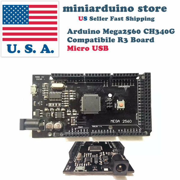 Arduino Mega2560 R3 CH340G ATmega2560-16AU Micro USB Compatible Board Rev 3 2560 - arduino - Business & Industrial:Electrical Equipment & Supplies:Electronic Components & Semiconductors:Other Electronic Components
