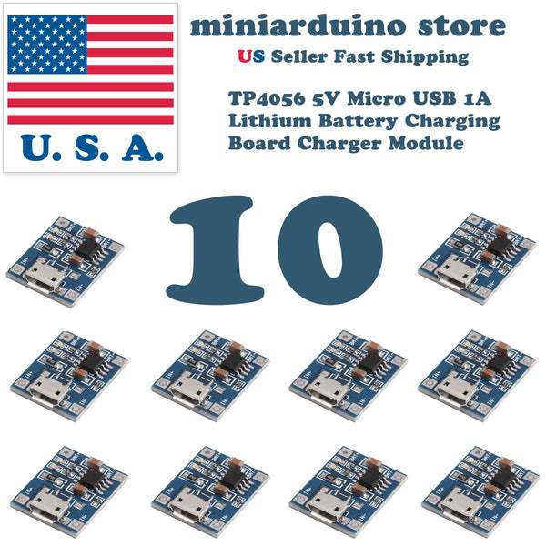 10pcs 1A 5V Lithium Battery Charging Board Micro Connector USB Module TP4056 - arduino - Business & Industrial:Electrical Equipment & Supplies:Electronic Components & Semiconductors:Semiconductors & Actives:Power Regulators & Converters