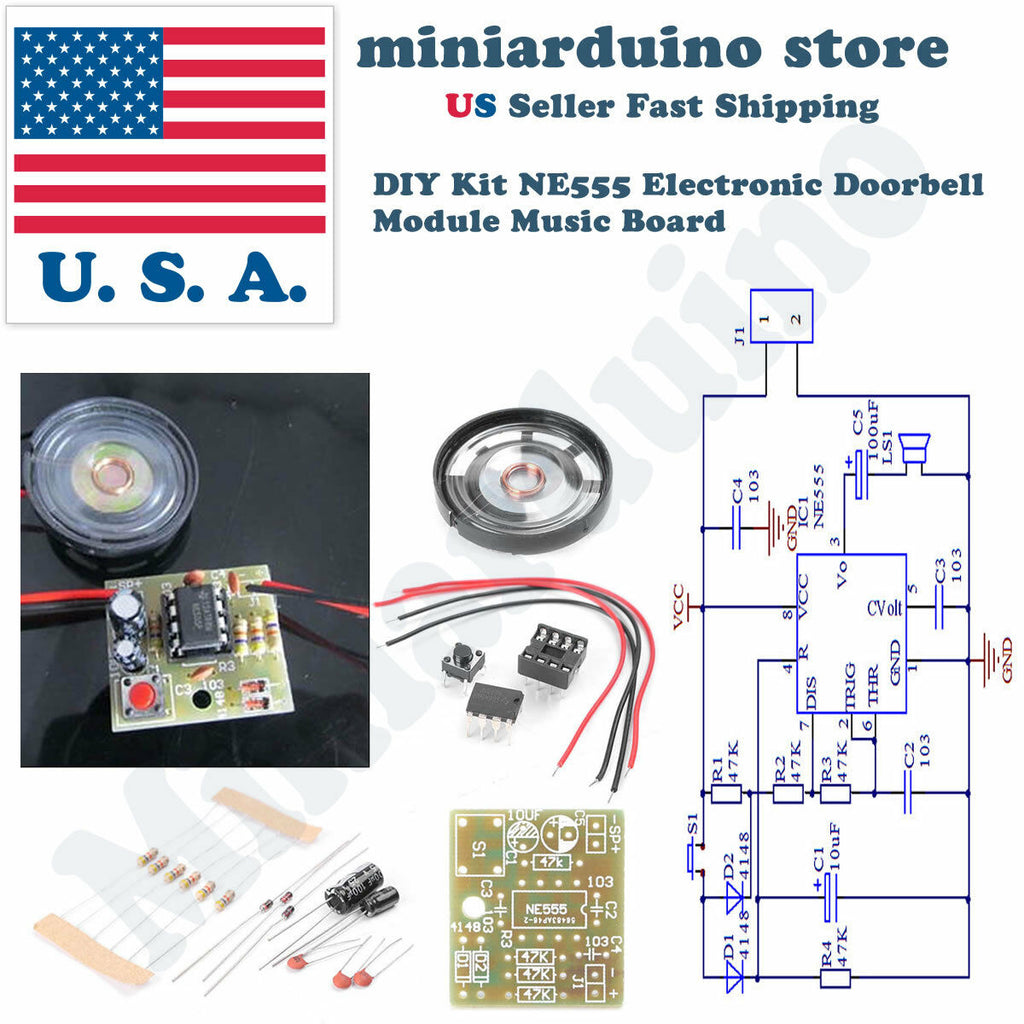 Doorbell Component Suite Electronic Production Door Bell DIY Kit NE555 Chip - arduino - Consumer Electronics:Other Consumer Electronics