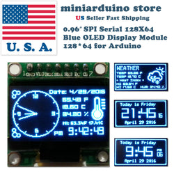 0.96″ SPI Serial 128X64 OLED LCD LED Display Module 128*64 BLUE SSD1306 Arduino - arduino - Business & Industrial:Electrical Equipment & Supplies:Electronic Components & Semiconductors:LEDs, LCDs & Display Modules:LCD Display Modules