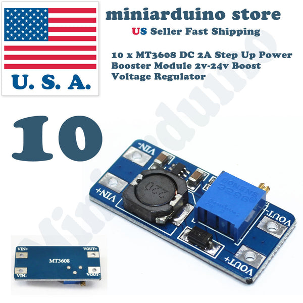 10 x MT3608 2A DC-DC Step Up 2V-24V Power Supply Module Booster Regulator 3608 - arduino - Business & Industrial:Electrical Equipment & Supplies:Electronic Components & Semiconductors:Semiconductors & Actives:Power Regulators & Converters