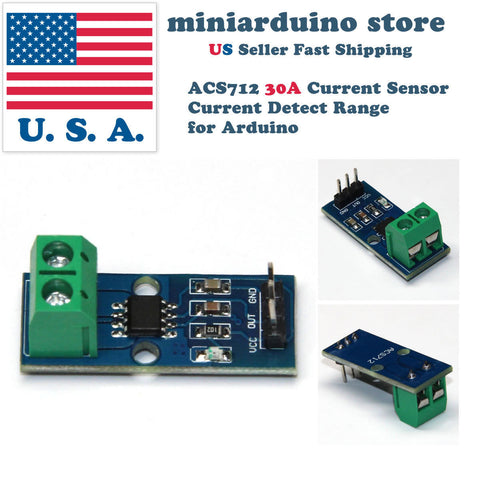 ACS712 30A Current Sensor Current Detect Range Module for Arduino New Design USA - arduino - Business & Industrial:Electrical Equipment & Supplies:Sensors:Other Sensors