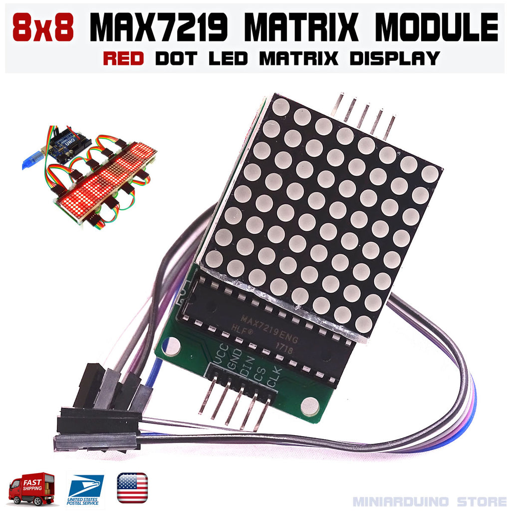 MAX7219 dot matrix 8x8 8*8 led display module Arduino MCU DIY Raspberry pi - arduino - Business & Industrial:Electrical Equipment & Supplies:Electronic Components & Semiconductors:LEDs, LCDs & Display Modules:LCD Display Modules