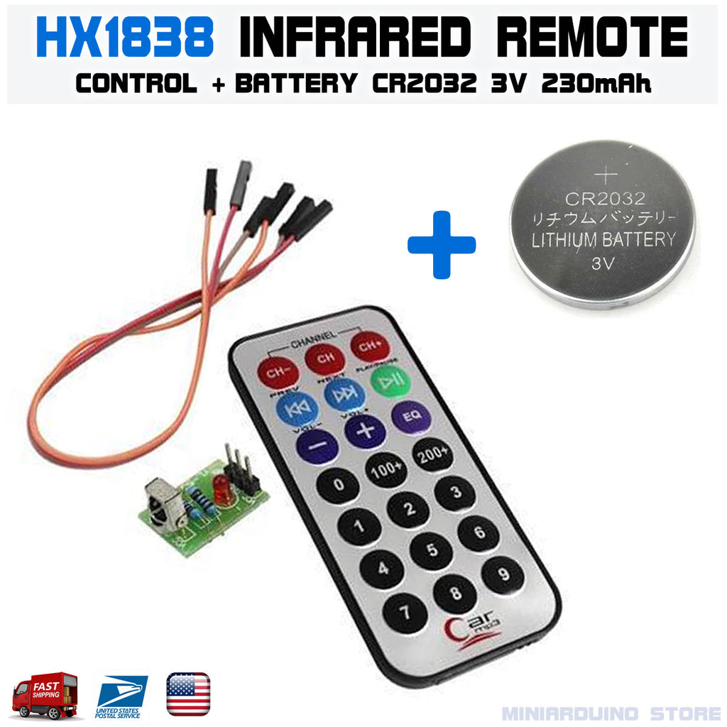 HX1838 Arduino Infrared IR Wireless Remote Control Sensor + CR2032 Battery - arduino - Business & Industrial:Electrical Equipment & Supplies:Sensors:Other Sensors