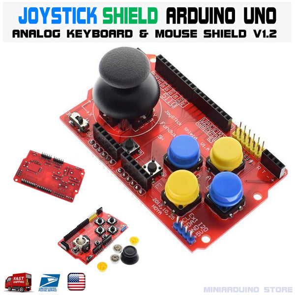 Joystick Shield for Arduino Expansion Board Analog Keyboard and Mouse Function Joystick Shield V1.2 - arduino -