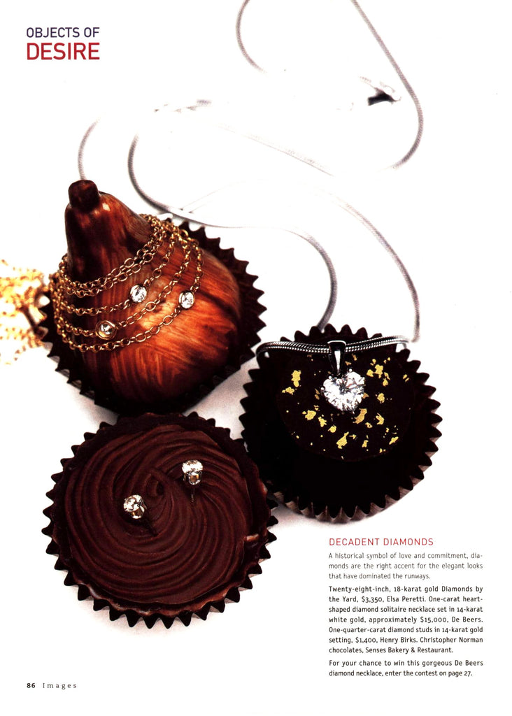 christopher norman chocolates christmas decorations magazine