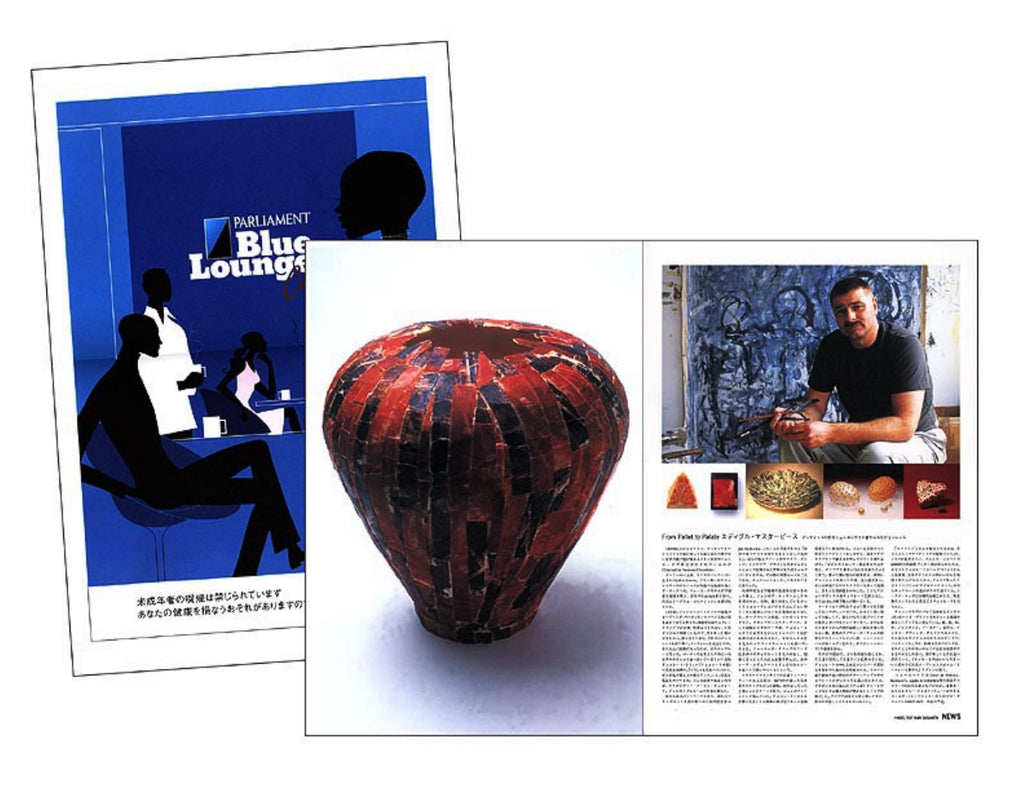 Christopher Norman Chocolate Art in a japanese magazine